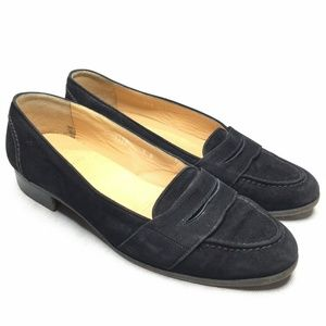 Polo Ralph Lauren Black Penny Loafer Suede Slip On